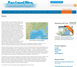 GOMA sea level rise site screenshot