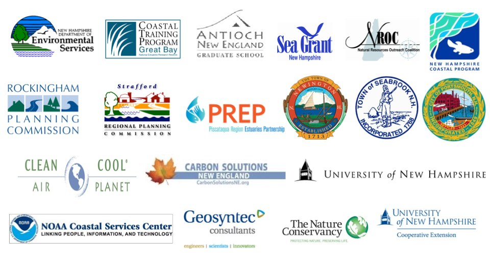 New Hampshire StormSmart Coasts partner logos